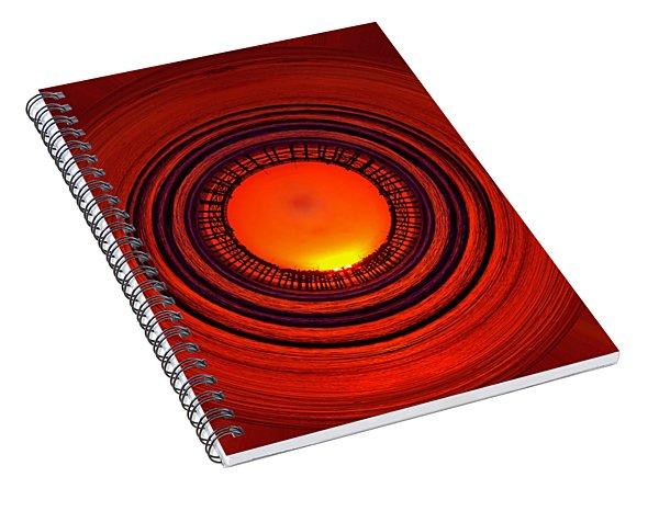 Pacific Beach Pier Sunset - Abstract Spiral Notebook