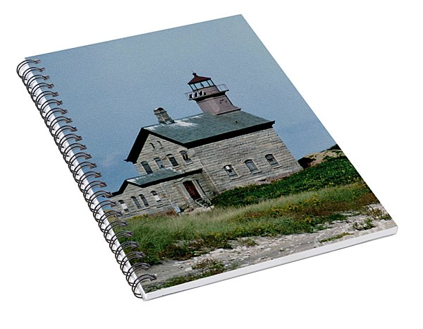 Painted Northwest Block Island Lighthouse Spiral Notebook