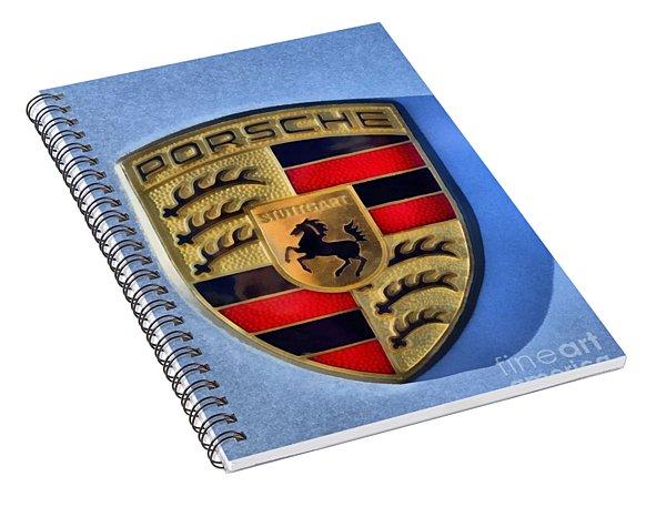 Painting Of Porsche Badge Spiral Notebook