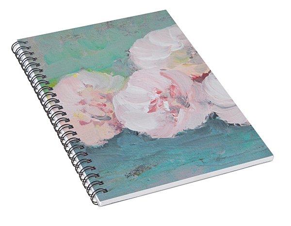 Pale Pink Peonies Spiral Notebook