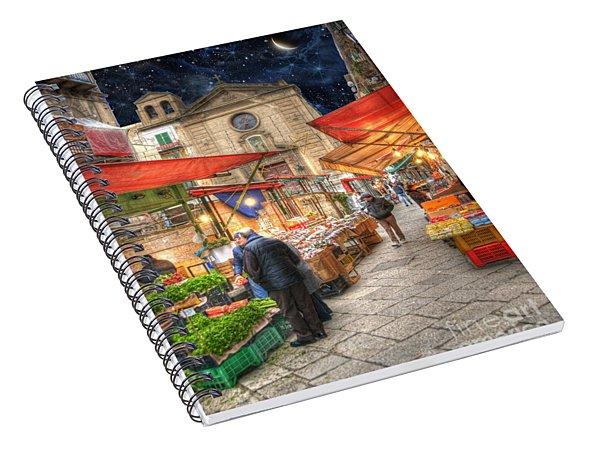 Palermo Market Place Spiral Notebook