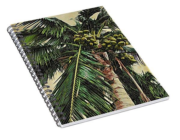 Palm Frond Spiral Notebook