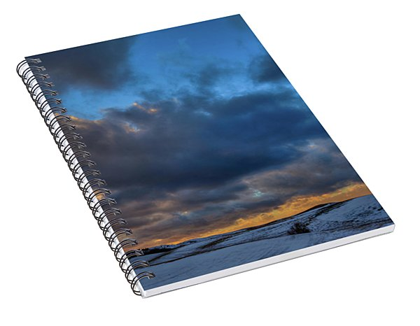 Palouse Winter Sunset Spiral Notebook