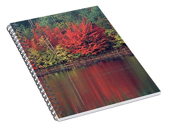 Panorama Fall Color Moccasin Lake Upper Peninsula Mi Spiral Notebook