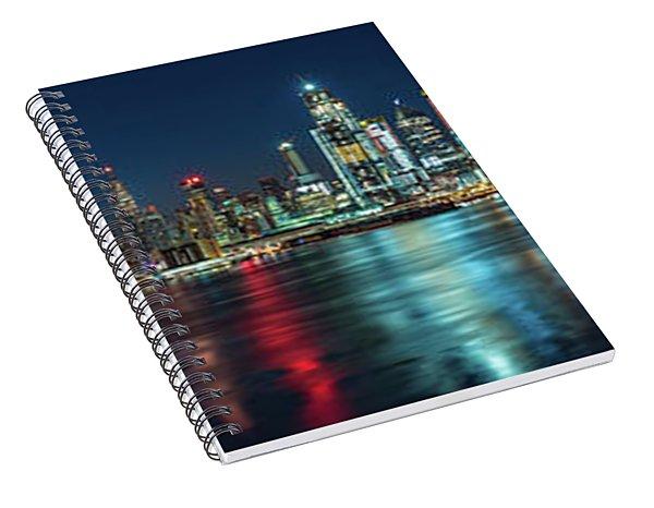 Panoramic Skyline-manhattan Spiral Notebook