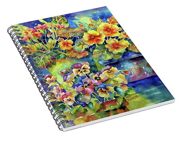 Pansies And Primroses Spiral Notebook