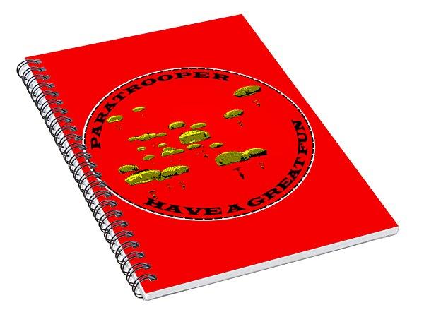 Paratrooper Fun Spiral Notebook