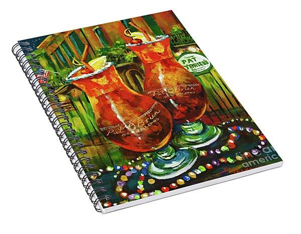 Pat O' Brien's Hurricanes Spiral Notebook