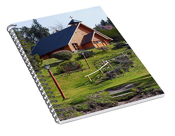 Rustic Church In The Argentine Patagonia Spiral Notebook