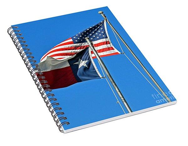 Patriot Proud Texan  Spiral Notebook