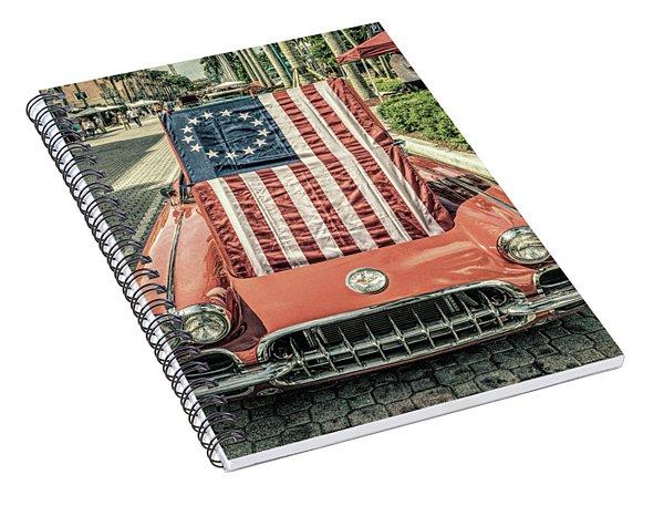 Patriotic Vette Spiral Notebook