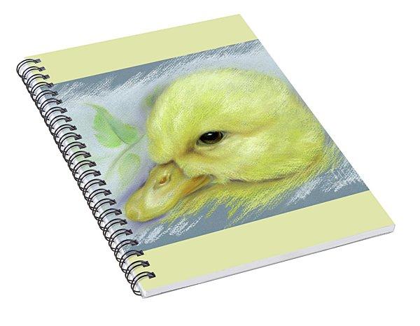Pekin Duckling Portrait Spiral Notebook