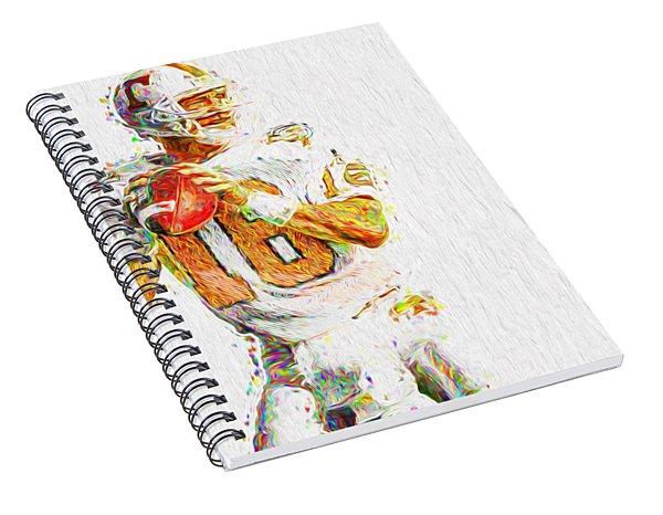 Peyton Manning Nfl Football Painting Tv Spiral Notebook