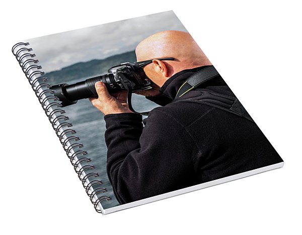 Photographer At Work Spiral Notebook