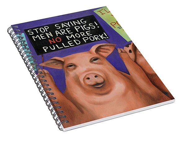 Pigs On Strike Spiral Notebook