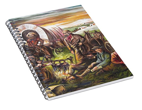 American    History  Pilgrims On The Plain Spiral Notebook