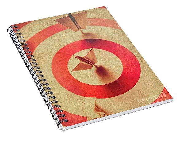 Pin Plane Darts Hitting Goals Spiral Notebook