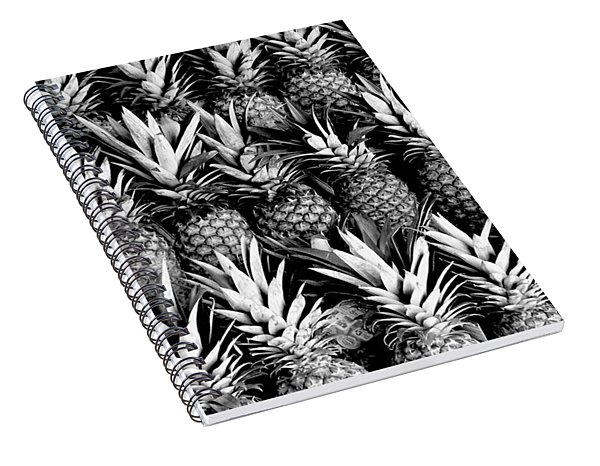 Pineapples In B/w Spiral Notebook