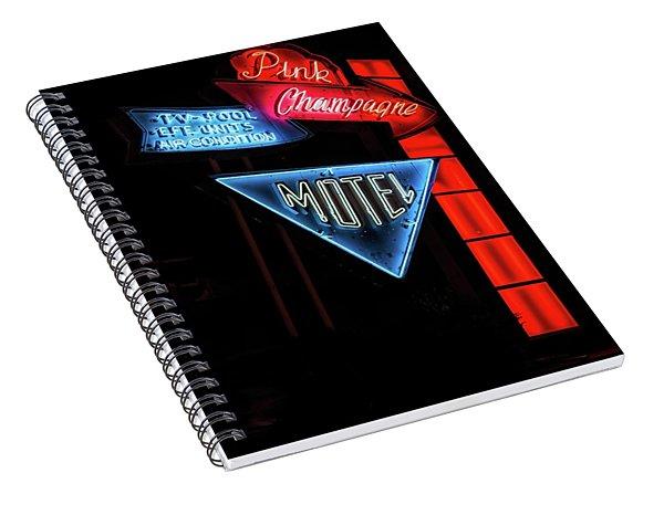 Pink Champagne Motel Spiral Notebook