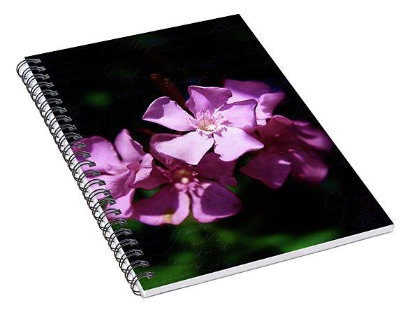 Pink Floral Artistry Spiral Notebook