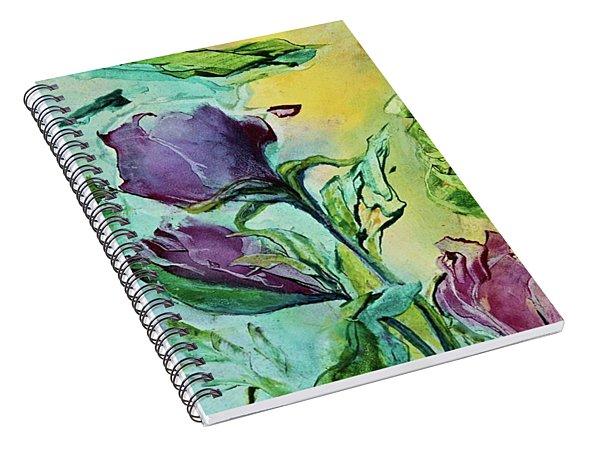 Pink Rosebuds Spiral Notebook