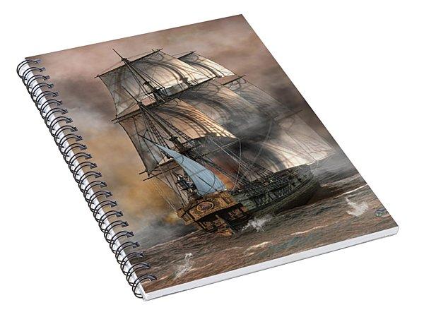 Pirate Battle Spiral Notebook