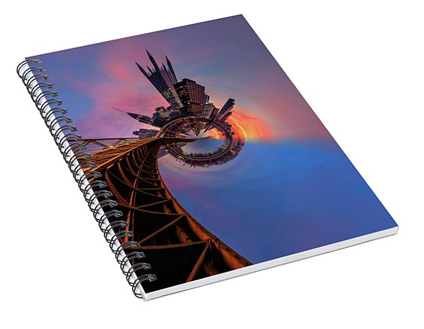 Pittsburgh Little Planets 2  Spiral Notebook