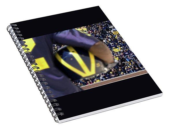 Player Cradling Helmet In Stadium Spiral Notebook