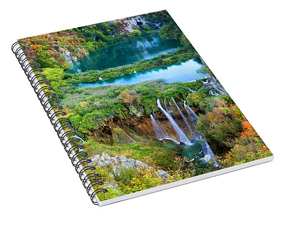 Plitvice Lakes In Croatia Spiral Notebook