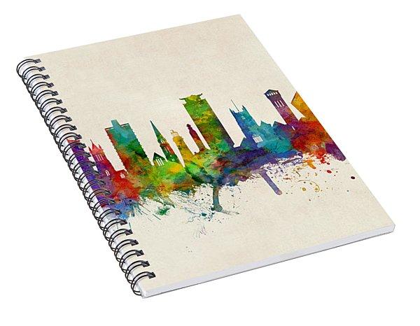Plymouth England Skyline Spiral Notebook