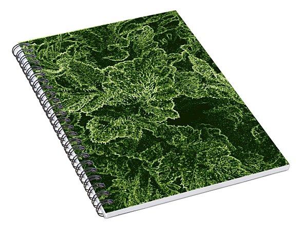 Poppy Leaves Spiral Notebook