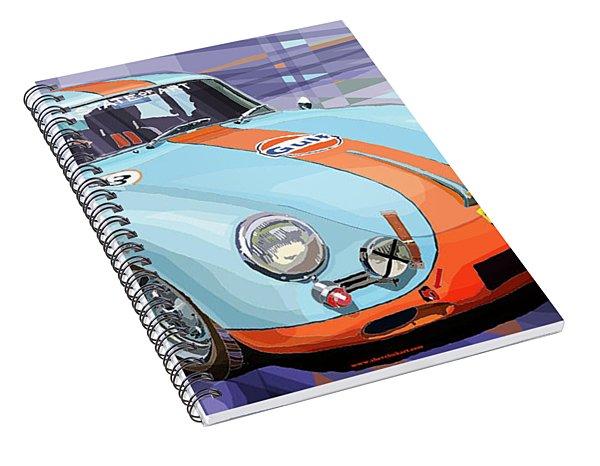 Porsche 356 Gulf Spiral Notebook