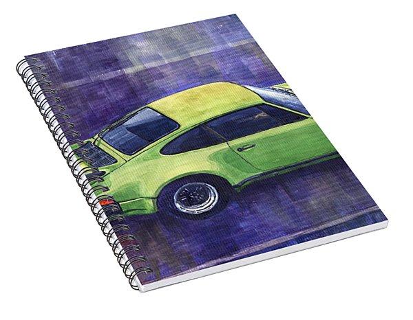 Porsche 911 Turbo Green Spiral Notebook