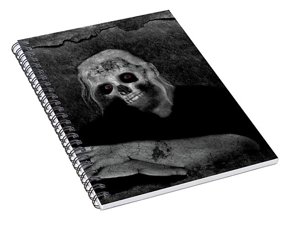 Portrait Of A Zombie Spiral Notebook