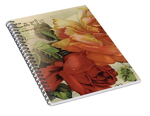 Spiral Notebook featuring the digital art Postal by Kim Kent
