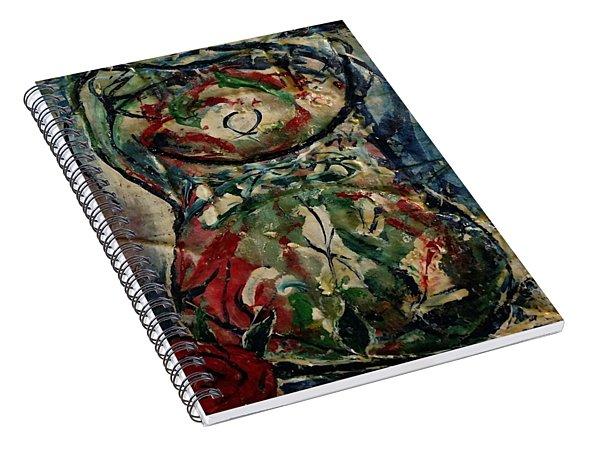 Potpourri Vase With Rose Spiral Notebook