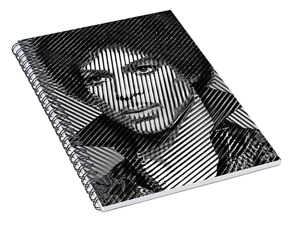 Prince - Tribute In Black And White Sketch Spiral Notebook