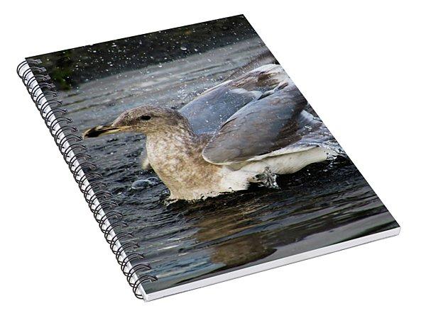 Puddle Bath Spiral Notebook