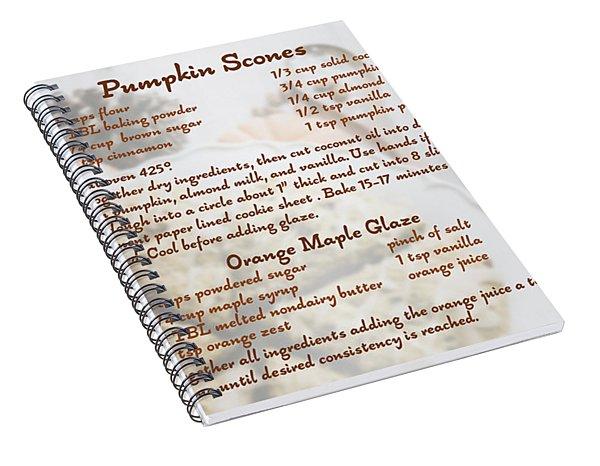 Pumpkin Scones Recipe Spiral Notebook