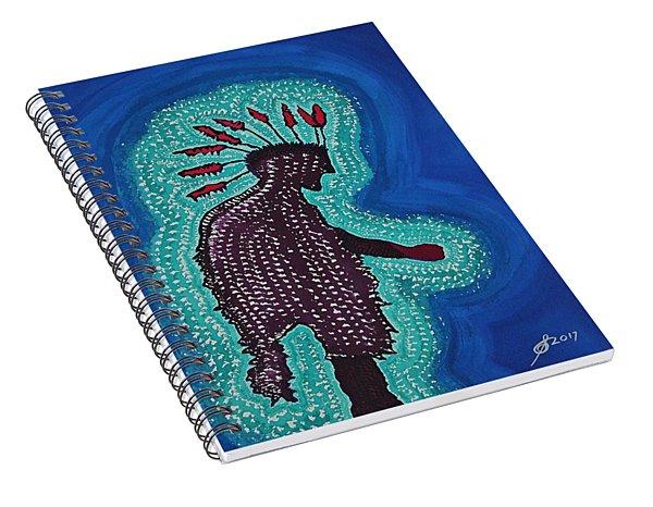 Punk Shaman Original Painting Spiral Notebook