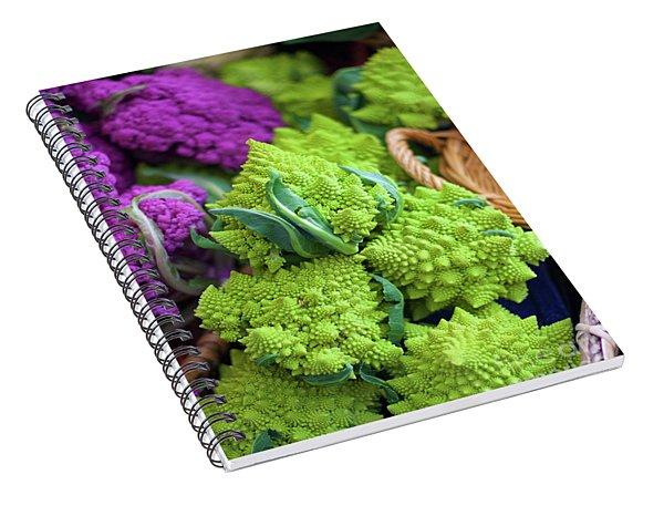 Purple And Romanesco Cauliflower Spiral Notebook