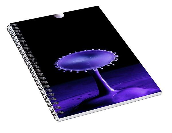Purple Drop Spiral Notebook