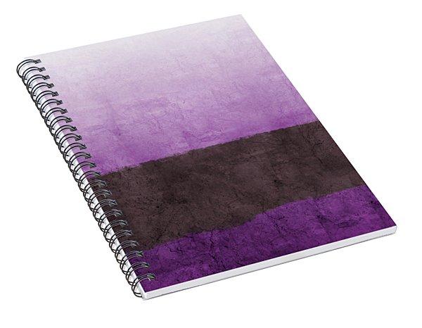 Purple On The Horizon- Art By Linda Woods Spiral Notebook