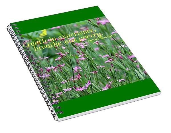 Purple Wildflower Of Poets Spiral Notebook