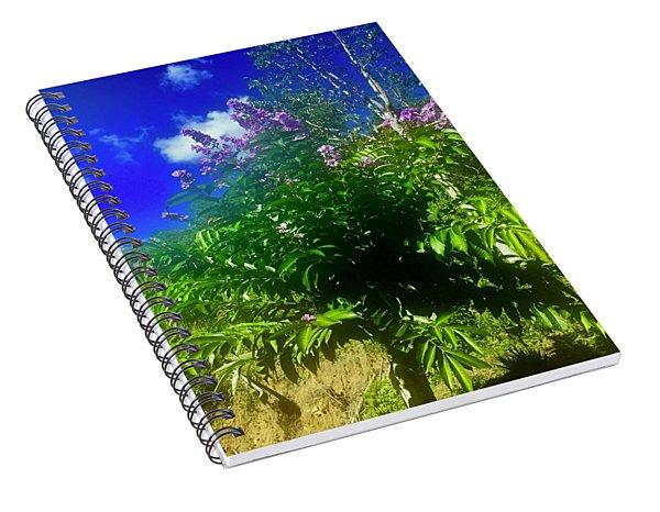 Queen Of Flowers Tree Spiral Notebook