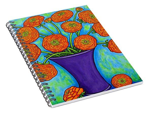 Radiant Ranunculus Spiral Notebook