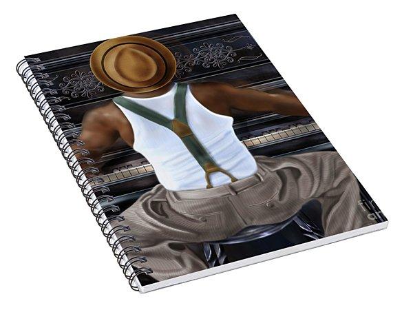 Rag Time Spiral Notebook