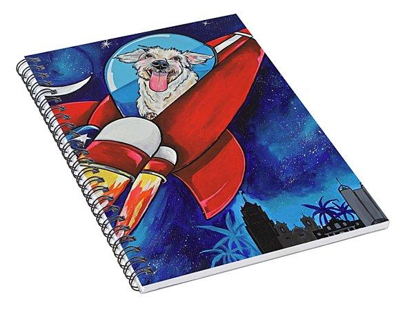 Rags The Rocket Dog Spiral Notebook