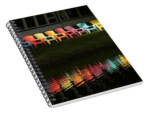 Rainbow Chairs  Spiral Notebook