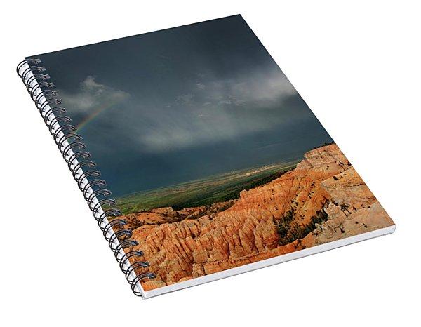 Rainbow Over Hoodoos Bryce Canyon National Park Utah Spiral Notebook